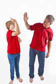 Father and son hugging — Stock Photo