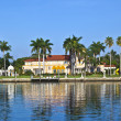 Beautiful houses in South Miami with ocean access — Stock Photo #7191620