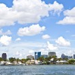 View to beautiful houses from the canal in Fort Lauderdale — Stock Photo #7195760