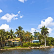 Stock Photo: View to beautiful houses from the canal in Fort Lauderdale