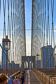 Famous Brooklyn Bridge in New York — Stock Photo