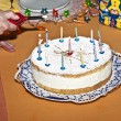 Birthday cake with candles — Stock Photo #7338297