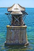 Old rotten bridge — Stock Photo