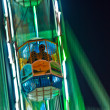 Enjoy the big wheel in the amusement park in Delhi — Stock Photo