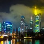 Frankfurt am Main by night — Stock Photo