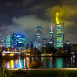 Frankfurt am Main by night - Stock Photo
