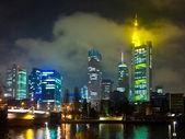 Frankfurt am main, por noite — Foto Stock
