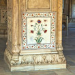 Inlaid marble, columns and arches, Hall of Private Audience or D — Stock Photo