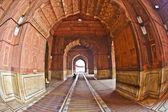 Jama masjid moskén, gamla delhi, indien. — Stockfoto