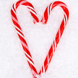 Stock Photo: Candy Cane heart
