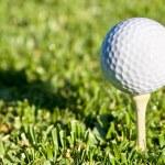 Golf ball shadow — Stock Photo