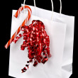 Stock Photo: White candy cane bag