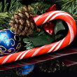 Candy cane Christmas — Stock Photo
