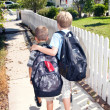 Walking home from school — Stock Photo