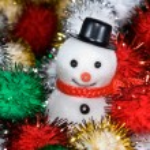 Christmas snowman — Stock Photo #7451962