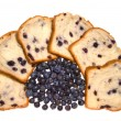 Blueberry bread and blueberries — Stock Photo #7451999