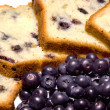 Stock Photo: Blueberry bread and blueberries