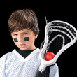 Child Lacrosse Player — Stock Photo