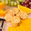 Cheese and snack tray - Stock Photo