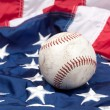 Baseball on American flag — Stock Photo #7453022