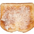 Toast with butter on white — Stock Photo #7453121