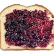 Bread with jelly on white — Stock Photo #7453123