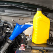 Foto Stock: Car maintenance oil change