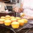 Baking cupcakes - Stock Photo