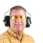 Man wearing safety equipment — Stock Photo