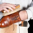 Stock Photo: Shoeshine man