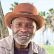 Elderly black man smiling — Stock Photo #7453661