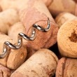 Corks and corkscrew - Stockfoto