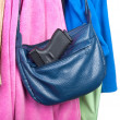 Gun stored in purse — Stock Photo #7453797
