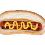 Hotdog with mustard — Stock Photo #7453807