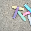 sidewalk chalk — Stock Photo