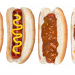 Stock Photo: Collection of hotdogs