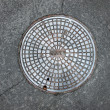 Stock Photo: Manhole cover