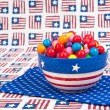 Stock Photo: July Fourth Gumballs