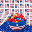 July Fourth Gumballs — Stock Photo