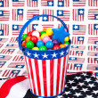 Foto de Stock  : Fourth of July Gumballs