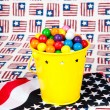 Stock Photo: Fourth of July Gumballs