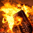 Burning wood — Stock Photo #7454176