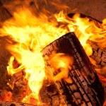 Burning wood — Stock Photo #7454176