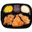Chicken TV dinner in plastic tray — Stock Photo #7454181