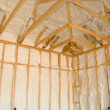 Stock Photo: New home insulation