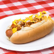 Chili dog - Stock Photo