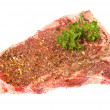 Stock Photo: Seasoned steak