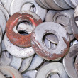 Stock Photo: Pile of Metal Washers