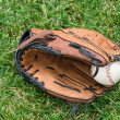 Baseball glove and ball — Stock Photo