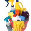 Stock Photo: Bucket of cleaning supplies